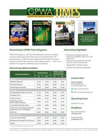 Advertising in GPWA Times Magazine Advertising Options & Rates ...