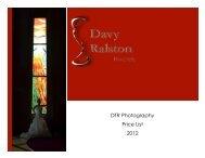 DTR Photography Price List 2012