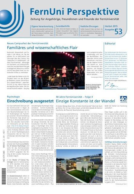FernUni Perspektive Nr. 53 | Herbst 2015