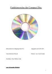 Funktionsweise der Compact Disc - Freiherr-vom-Stein-Schule