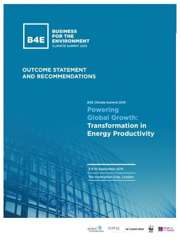 Global Growth Transformation in Energy Productivity