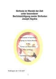 Sinfonie im Wandel der Zeit - Freiherr-vom-Stein-Schule