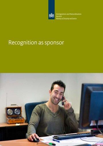 Recognition as sponsor