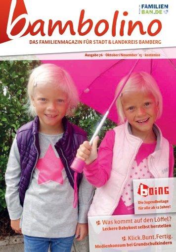 Bambolino - Das Familienmagazin für Bamberg Stadt und Land