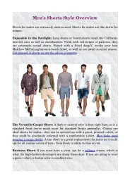 Men's Shorts Style Overview