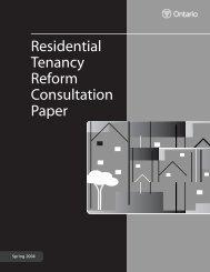 Residential Tenancy Reform Consultation Paper