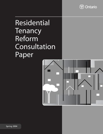 Residential Tenancy Reform Consultation Paper