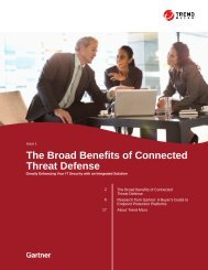 The Broad Benefits of Connected Threat Defense
