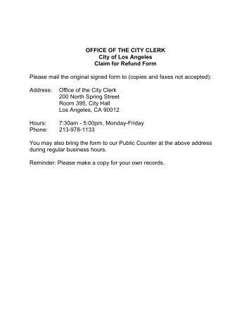 Refund claim form and instructions - The City of Cambridge