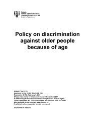 Policy on discrimination against older people because of age