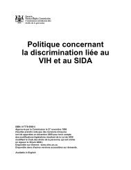 Politique concernant la discrimination liée au VIH et au SIDA