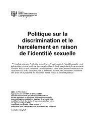 Politique sur la discrimination et le harcèlement en raison de l ...