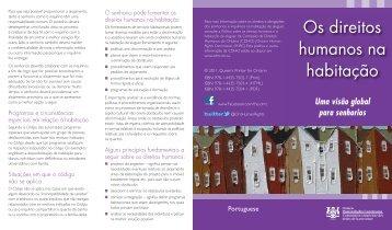 Os direitos humanos na habitação