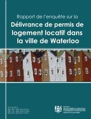 logement locatif dans la ville de Waterloo