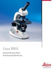 Leica BM E Basic Microscope Brochure - Meyer Instruments, Inc.