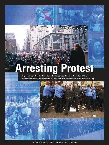 Arresting Protest Arresting Protest