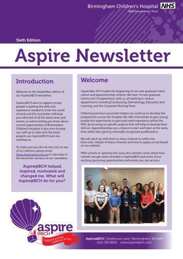Aspire Newsletter