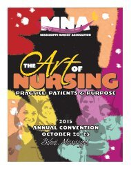 2015 Mississippi Nurses Association Annual Convention Yearbook