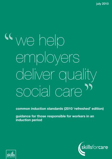 employers deliver quality social care