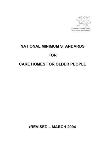 FOR CARE HOMES FOR OLDER PEOPLE (REVISED – MARCH 2004