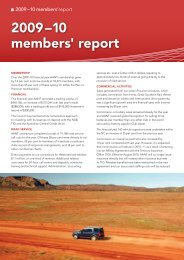 2009–10 members' report