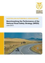 Benchmarking the Performance of the National Road Safety Strategy (NRSS)