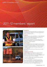 2011–12 members' report