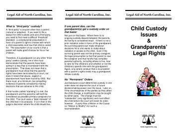 Child Custody Issues & Grandparents' Legal Rights