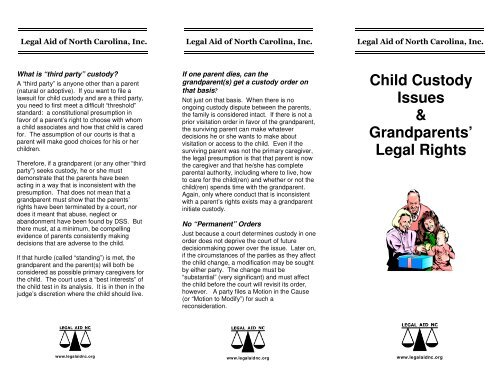 Child Custody Issues Grandparents Legal Rights