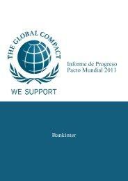 Bankinter Informe de Progreso Pacto Mundial 2011