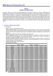 BBVA Banco de Financiación S.A