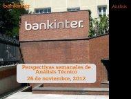 Perspectivas semanales de Análisis Técnico 26 de noviembre 2012