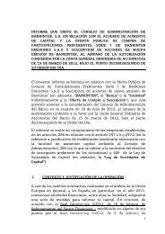 1 INFORME QUE EMITE EL CONSEJO DE ... - Bankinter