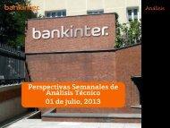 Perspectivas Semanales de Análisis Técnico 01 de julio 2013