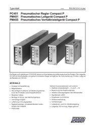 PC451 Pneumatischer Regler Compact P PM451 Pneumatisches