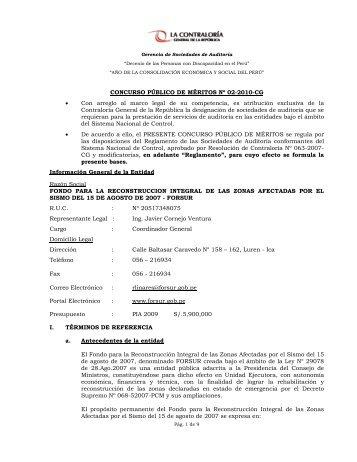 CONTRALORA GENERAL DE LA REP BLICA - Contraloría General ...