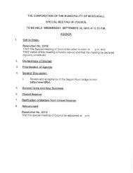 September 30, 2015 Special Meeting Agenda