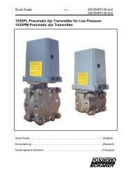 153DPL Pneumatic d/p Transmitter for Low Pressure 153DPM ...