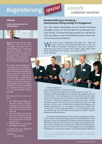 Begeisterung spezial - Call-Center-Akademie GmbH