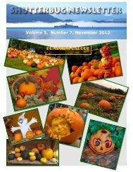 Volume 5 Number 7 November 2012 Pumpkins Galore