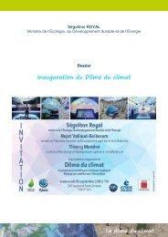 Inauguration du Dôme du climat