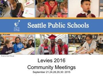 Levies 2016 Community Meetings