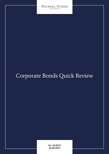 Corporate Bonds Quick Review