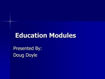 Education Modules