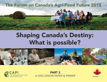 Shaping Canada's Destiny What is possible?