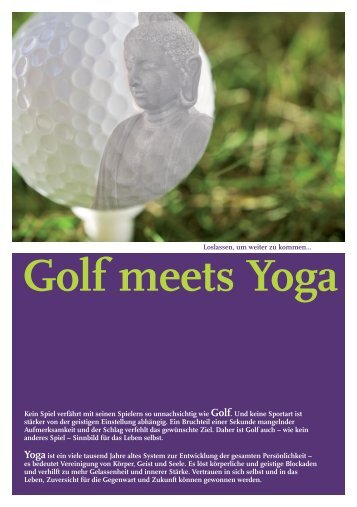 Golf meets Yoga - Golf & Country Club Brunstorf