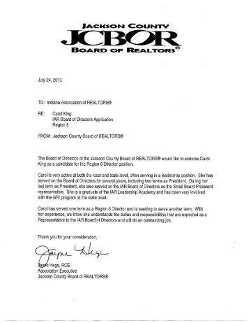 IAR Board of Directors Application #31