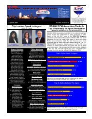August 2001 - rmdfw newsletter - RE/MAX DFW Associates