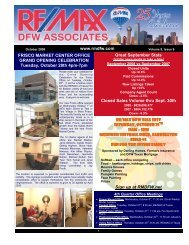 October 2008 - rmdfw newsletter - RE/MAX DFW Associates