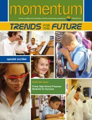 Inside this Issue Trinity High School Prepares Students for Success